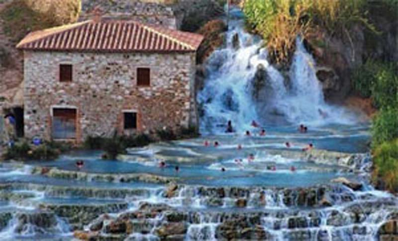 See the falls of Saturnia